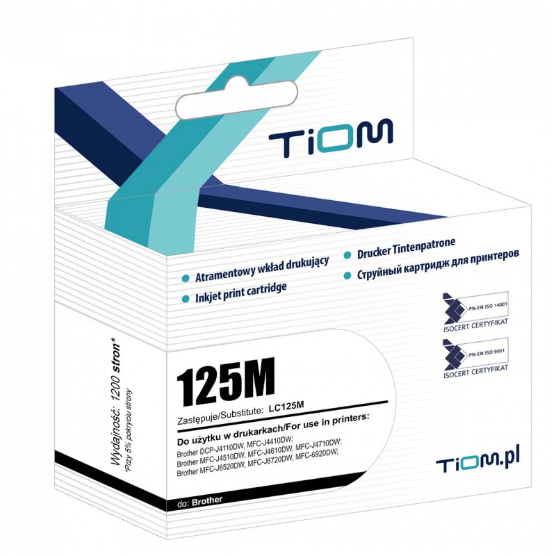 Tusz Tiom do Brother LC125M...